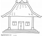 Gambar Mewarnai Rumah Adat