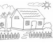 Mewarnai Gambar Rumah