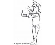 Mewarnai Gambar Polisi
