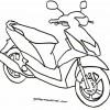 Latihan Mewarnai Sepeda Motor