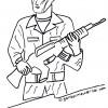 Gambar Mewarnai Tentara