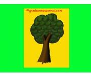 Cara Mewarnai Pohon Dengan Crayon