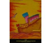 Mewarnai Gambar Kapal Putri Shankhara TK Pertiwi Sulsel