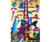 Mewarnai Gambar Tema Hari Kemerdekaan Karya Putri