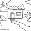 Contoh Gambar Mewarnai Rumah Terbaru