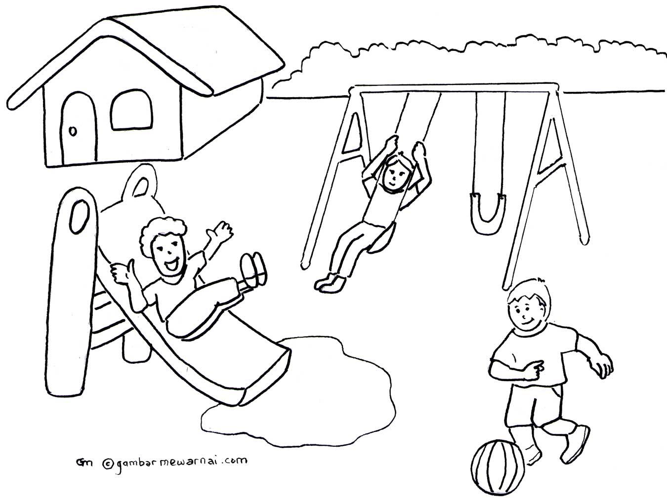 Kartun Hello Kitty Gambar Sketsa Untuk Diwarnai Anak