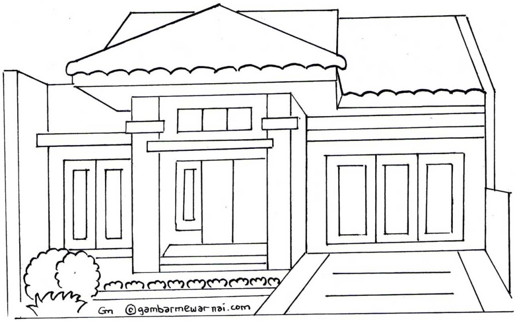 Gambar Rumah Minimalis Untuk Mewarnai X Jpg