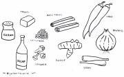 Gambar Mewarnai Bumbu Dapur