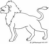 Mewarnai Singa
