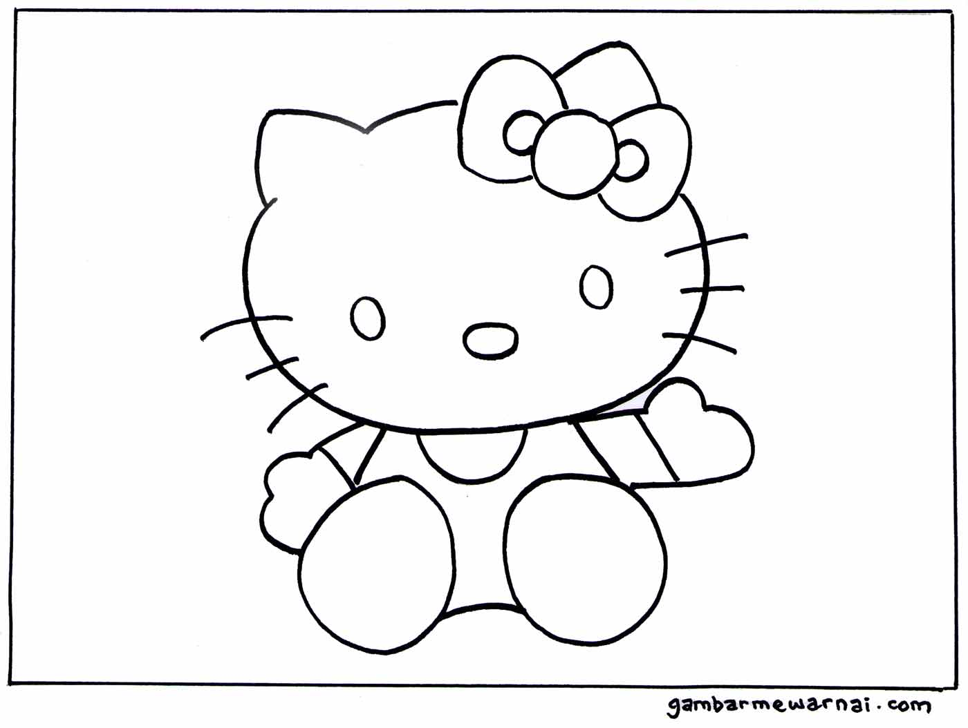 mewarnai hello kitty