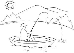 Gambar Mewarnai Memancing Ikan X Jpg