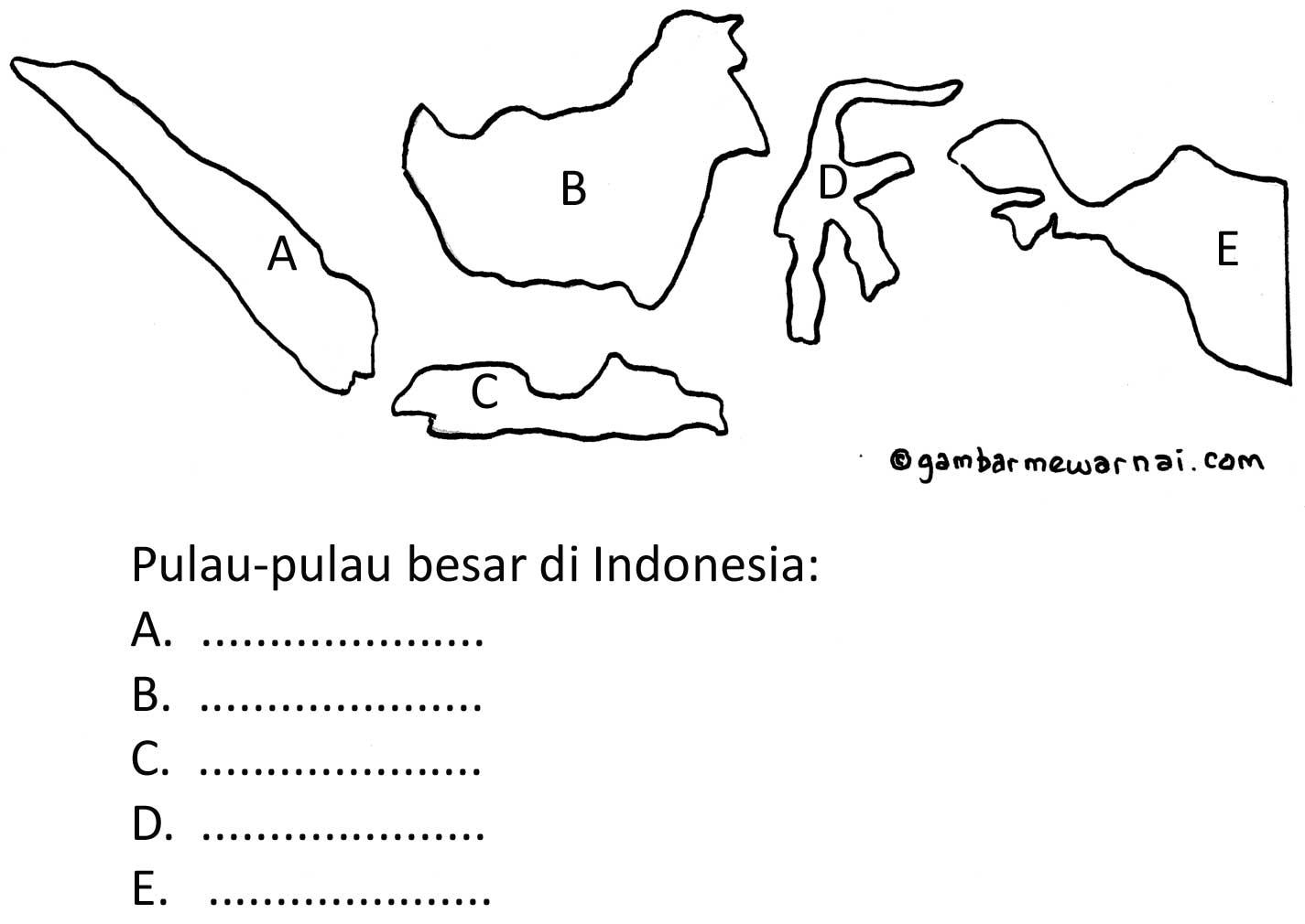 pulau besar di Indonesia