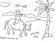 Mewarnai Gambar Anak Gembala