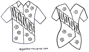 Gambar Mewarnai Baju Batik X Jpg