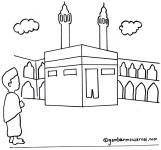 Gambar Mewarnai Ka'bah