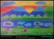 Gambar Pemandangan Karya Nadine Paud At-Taubah Depok