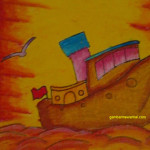 mewarnai gambar kapal putri shankara tk pertiwi sulsel