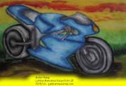 Mewarnai Gambar Motor Balap Karya Putri