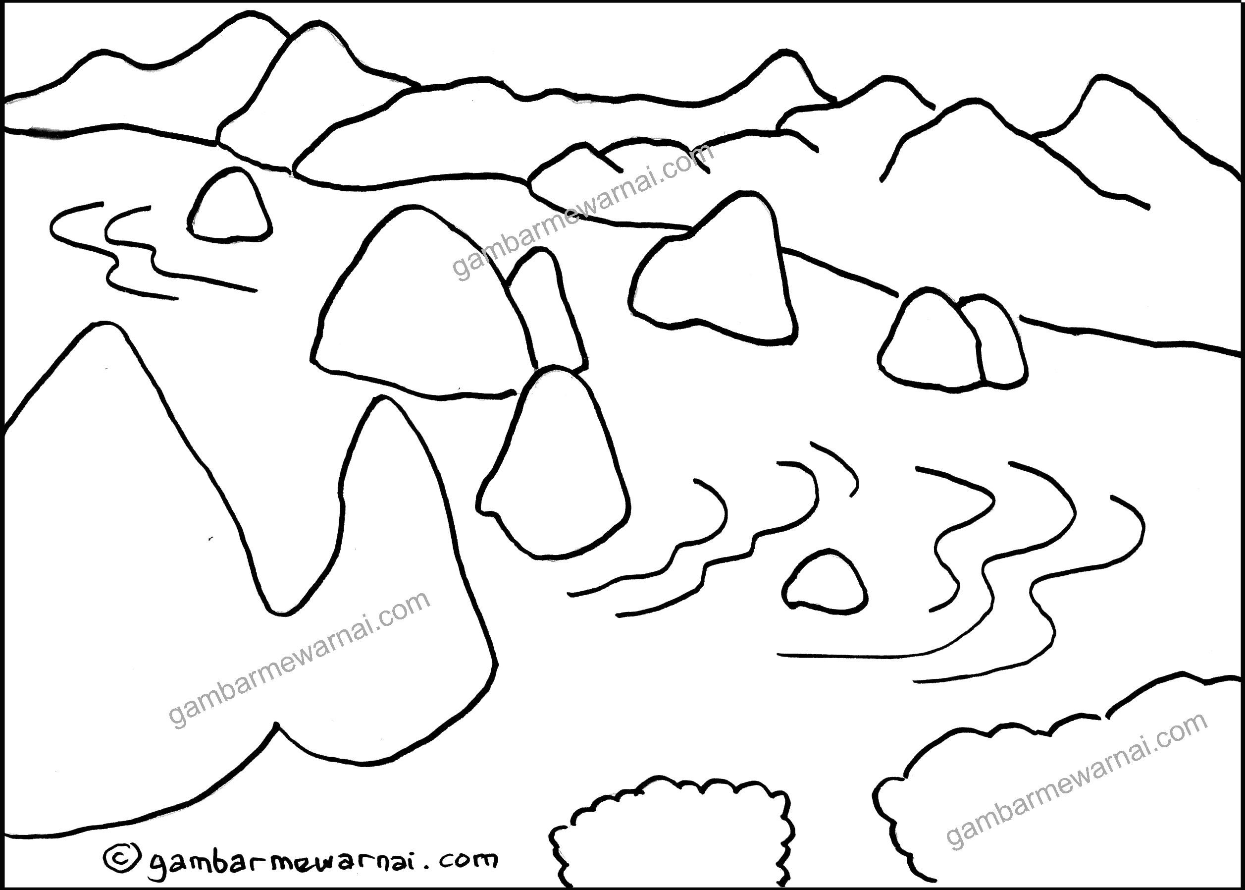 Sketsa Pemandangan