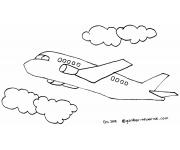 Mewarnai Gambar Pesawat Terbang