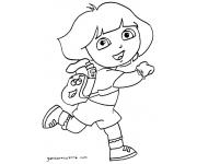 Gambar Mewarnai Dora The Explorer
