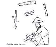 Mengenal dan Mewarnai Peralatan Tukang Kayu