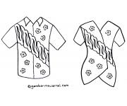 Gambar Mewarnai Baju Batik