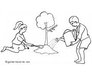 Mewarnai Gambar Menjaga Kelestarian Lingkungan